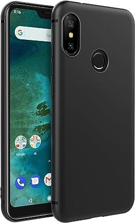 EasyAcc Xiaomi Mi A2 Lite/Redmi 6 PRO Custodia in TPU Nero Opaco, Morbido TPU Custodia Cover Slim Anti Scivolo Custodia Protezione Posteriore Cover Antiurto per Xiaomi Mi A2 Lite/Redmi 6 PRO