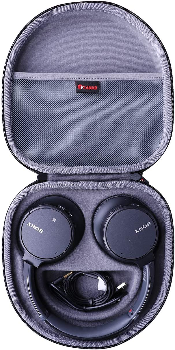 XANAD Hard Case for Sony WHCH700N or Sony WHCH710N Wireless Bluetooth Noise Canceling Over The Ear Headphones - Storage Protective Travel Carrying Bag(Grey)