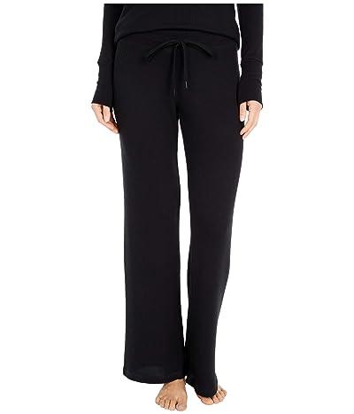 P.J. Salvage Textured Basics Pants (Black) Women