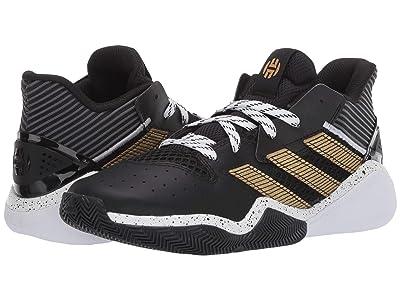 adidas Kids Harden Stepback Basketball (Big Kid) (Core Black/Gold Metallic/Footwear White) Kids Shoes