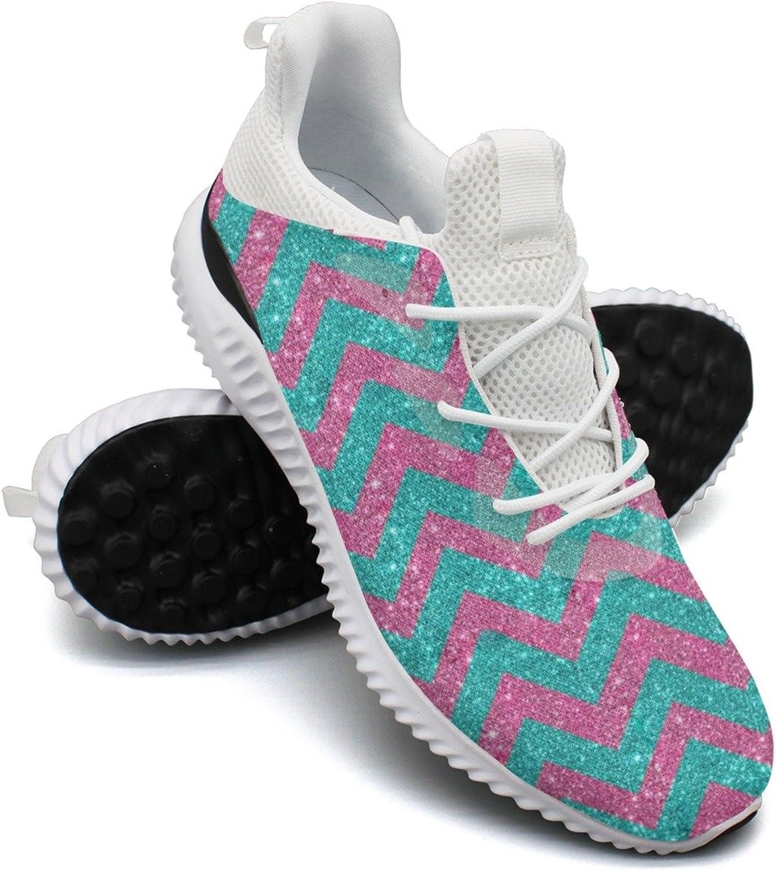 Purple Glitter Leisure Sports Running shoes Women's Net Novelty Comfortable