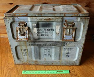 Small Arms Ammunition Box Metal 50 Cal T1IIT A551 Ammo Storage lockdown For Vintage