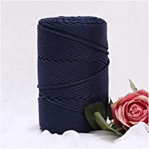 200 m/roll 3mm holle gebreide haakgarens voor diy handtas portemonnee mand nylon koord polyester draad ronde touw (Color :...