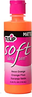Tulip 26546 Soft Fabric Paint 4oz Neon Fiesta Orange