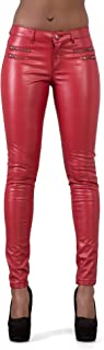 Lusty Chic Women Faux Leather Leggings Pants Sexy Low Waist Stretchy Skinny Trousers