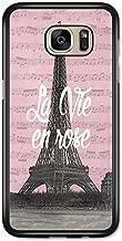 La Vie en Rose Paris France Eiffel Tower Retro Vintage Design case for Samsung Galaxy S7 Edge