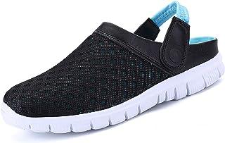 SMajong Mujer Hombre Zuecos Zapatillas de Playa Respirable Sandalias Malla Zapatos Verano Ligeros Antideslizante Clogs Zap...