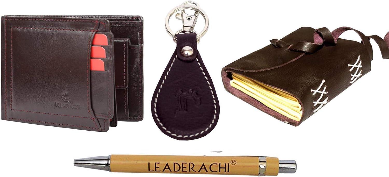 Leaderachi Full Grain Dark Brown El Paso Mall Leather Blocking fold Bi RFID unisex W