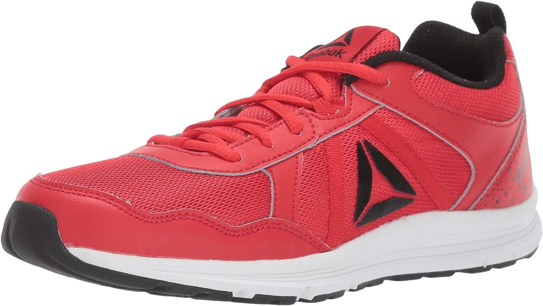 Reebok Boy's Almotio 4.0 Running Shoe, Red/Black