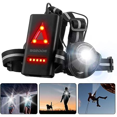 la marche pour GoPro Series et cam/éra daction Westlight Lampe torche de course /à pied le camping rechargeable par USB 3 modes d/éclairage pour le jogging sport de nuit