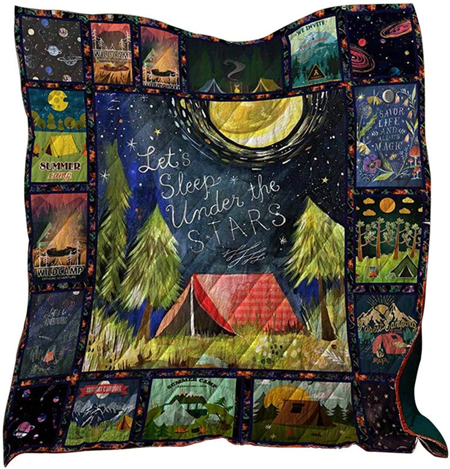 Camping Blanket,Fheaven Soft Cloth Comfort Camping Carpet Night Sky Blanket for Vacation Camping Mat Gifts