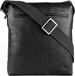 Hidesign Fitch 04 Crossbody Bag for Men - Leather, Black