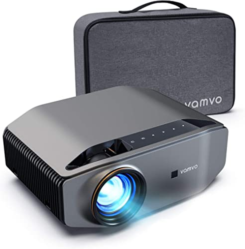 """1080p Projector, vamvo L6200 Full HD Video Projector with max 300"""" Display, 5000Lux with 50000hrs Life, Ideal for Out..."""