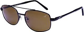Xezo Skyhawk Titanium Polarized Brown Lens Retro Sunglasses. Fishing, Driving, Golf