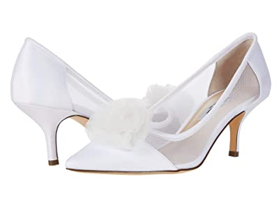 Nina Bettey (White Luster Satin/Tulle/Mesh) Women
