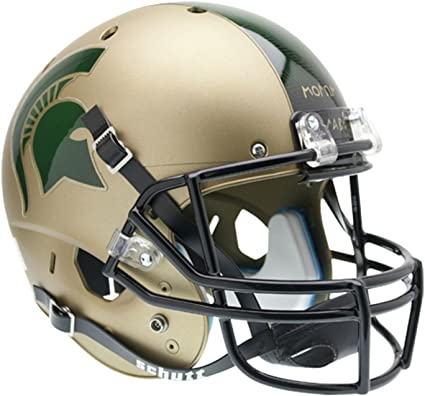 Team Colors One Size Riddell NCAA Michigan State Spartans Helmet Full Size ReplicaHelmet Replica Full Size Speed Style 2017 Alternate
