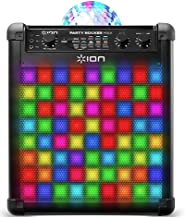 ION Audio Party Rocker Max | 100W Portable Bluetooth Party Speaker System & Karaoke Centre with Built-In Rechargeable Battery, Dome Party Light Display, LED Light Grille & Microphone
