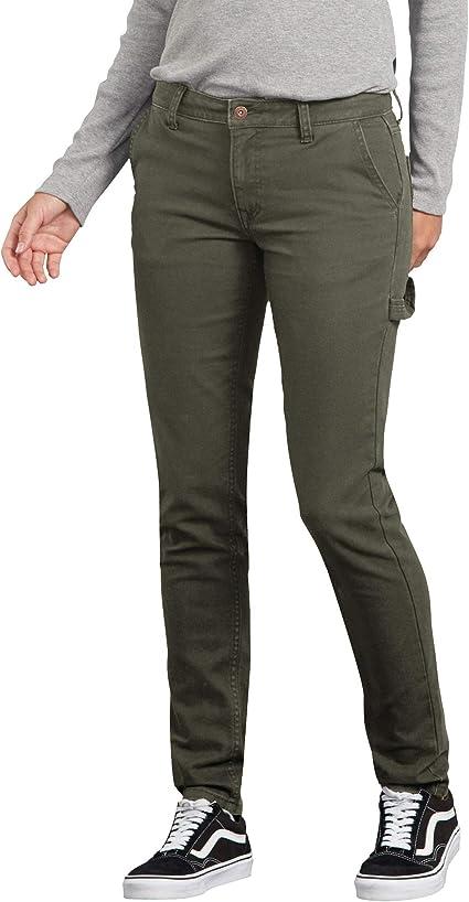 Dickies Pantalones De Carpintero De Pato Estrechos Y Rectos Pantalones Utilitarios De Trabajo Para Mujer Amazon Com Mx Ropa Zapatos Y Accesorios