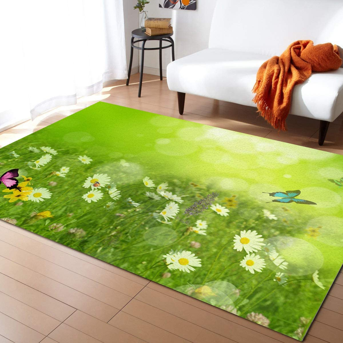 MuswannaA SEAL limited product gift Area Rug for Bedroom Room- Vitalit Spring Living Green