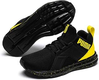 PUMA Unisex-Kids' Enzo Tech Sneaker, Black-Blazing Yellow