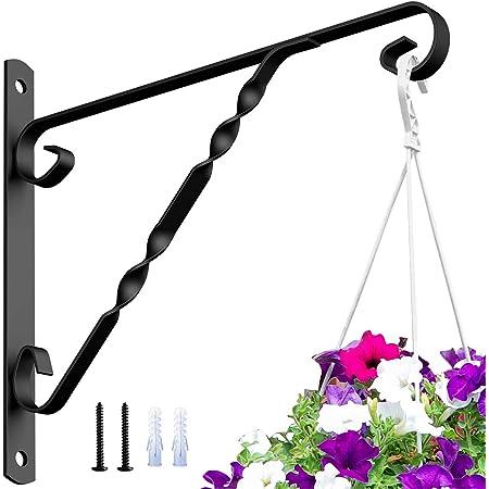 Garden Flower Pot Hanger Wall Hanging Rack Iron Holder Plant Bracket Metal Hook~