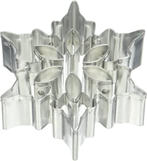 """R & M International Snowflake Version B 3"""" Cookie Cutter with Cutouts, 3"""", Silver"""