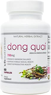 Dong Quai | 700 mg Extract Capsules | 4:1 Angelica Sinensis Root Powder | Balance Female Hormones from Fertility and PMS t...