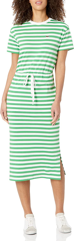 Lacoste Women's Short Sleeve Maxi T-Shirt Dress