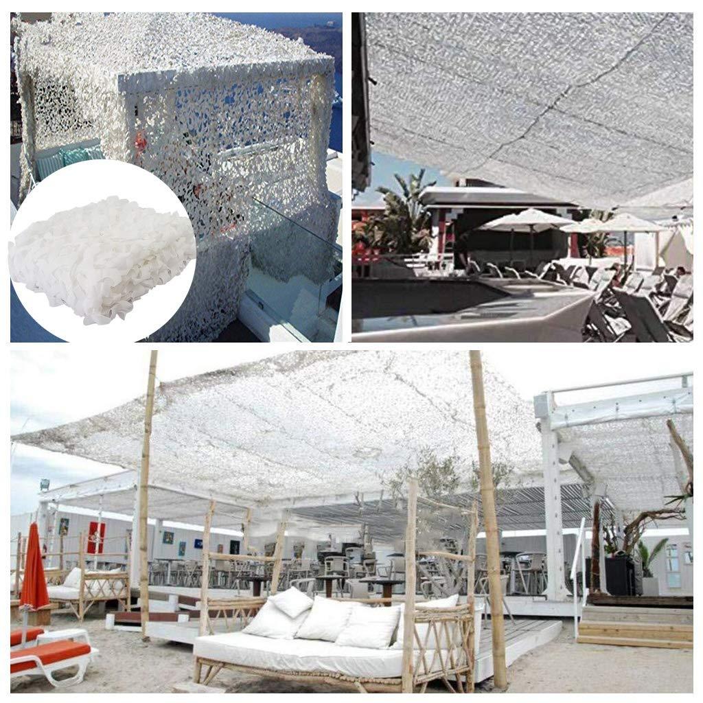 Red de Camuflaje Blanco 6x4m para la Caza Redes de Camuflaje Toldos Exterior Terraza Manual Red de Sombra de Jardín Toldos para Terraza Exterior 2x3m 3x3m 4x5m 6x6m Militar para Decorar: Amazon.es: