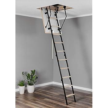 Escalera de suelo mini térmica (80 x 80 cm, madera): Amazon.es: Bricolaje y herramientas
