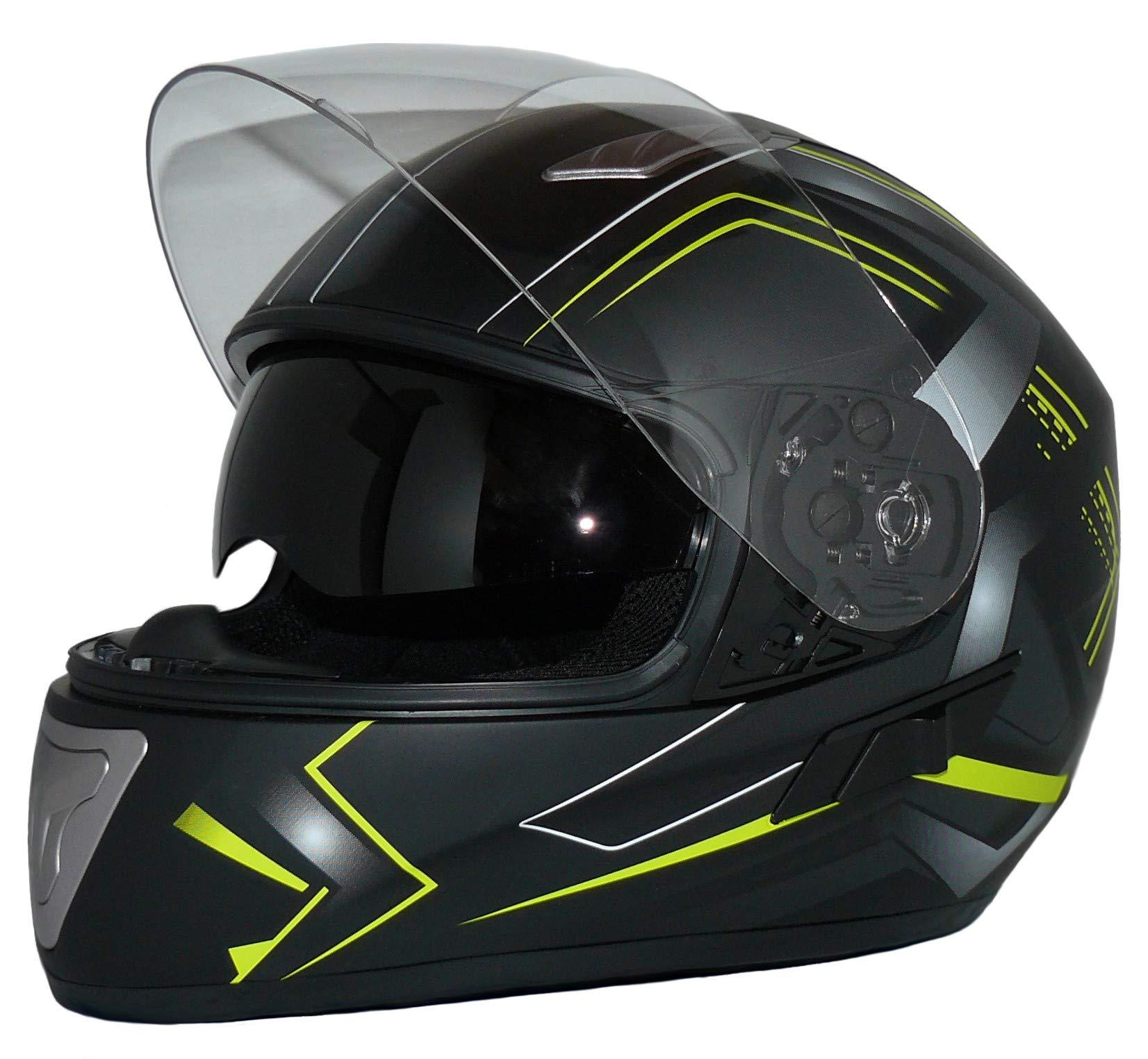 Protectwear Casco integral con visera H520-Arrow-GB - XL, Black, Talla XL: Amazon.es: Coche y moto