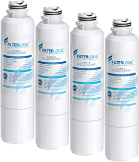 FilterLogic NSF 53&42 Certified DA29-00020B Refrigerator Water Filter, Replacement for Samsung DA29-00020A/B, HAF-CIN, HAF-CIN/EXP, DA97-08006A, Kenmore 46-9101, RF28HMEDBSR, RF4287HARS (Pack of 4)