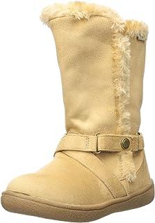 Western Chief Girls' Plush Fashon Microfiber Bootie Pull-on Boot