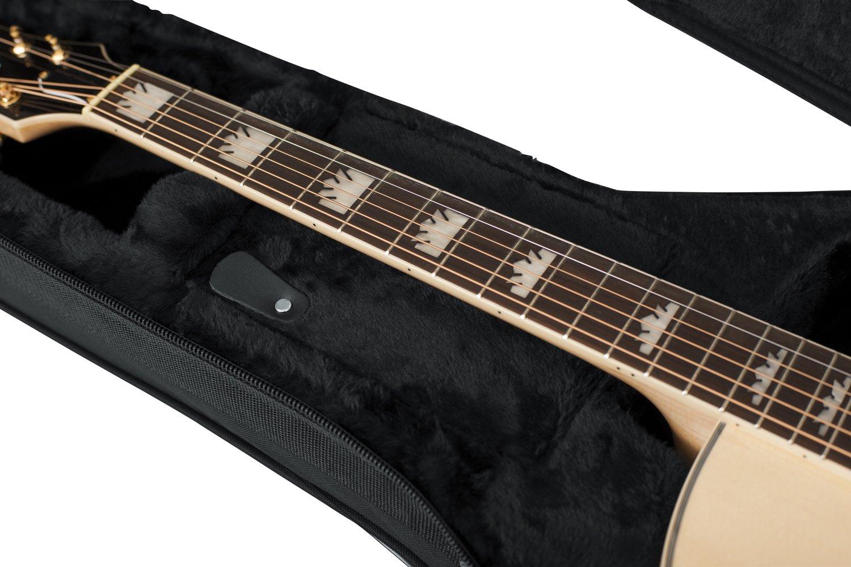 GATOR GL-JUMBO - Estuche para guitarra acústica, color negro ...