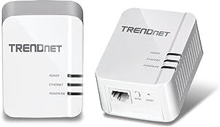 TRENDnet Powerline 1300 AV2 Adapter Kit, Includes 2 x TPL-422E Adapters, IEEE 1905.1 & IEEE 1901, Gigabit Port, Range Up t...