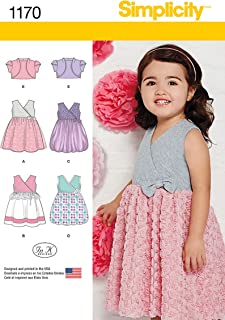 Simplicity Patterns US1170A Toddlers' Dress with Knit Bodice and Bolero, A (1/2-1-2-3-4)