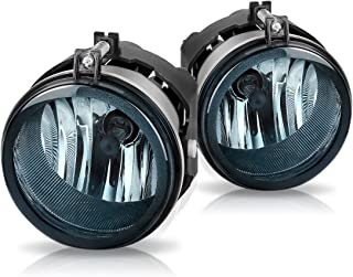 Fog Lights For Dodge Caravan Charger Challenger Caliber Chrysler Pacifica Sebring Jeep Patriot Compass (OE Style Smoke Lens w/Bulbs)