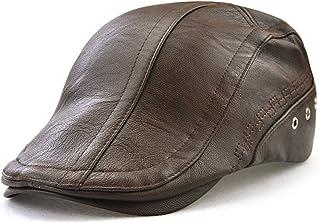 Roffatide Engranaje Costura Cuero de la PU Ajustable Plano Gorra Sombrero de Boina Golf Chapelas