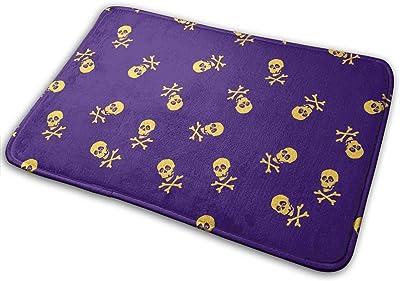 Purple Skulls Carpet Non-Slip Welcome Front Doormat Entryway Carpet Washable Outdoor Indoor Mat Room Rug 15.7 X 23.6 inch