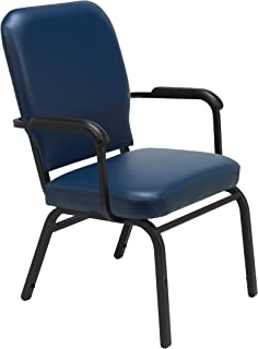 KFI Seating Big Tall Guest Chair Navy Vinyl
