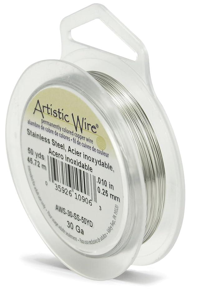 Artistic Wire Beadalon AWS-30-SS-50YD 30 Gauge, Stainless Steel, 50-Yard