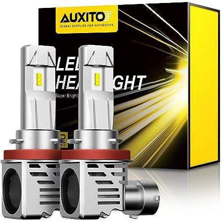 【最新 業界初モデル正規品】AUXITO H11 H8 H9 H16 LEDヘッドライト 車用 2年品質保証 新基準車検対応 ZES LEDチップ搭載 驚異の純正ハロゲンサイズ登場 99%車種対応 高輝度 6500K 12V車対応(ハイブリッド車・EV車対応) 定電流回路搭載 長寿命 高速回転冷却ファン付け 放熱性抜群 静音 瞬間起動 光軸調整フリー 2個入り ホワイト - M3H11