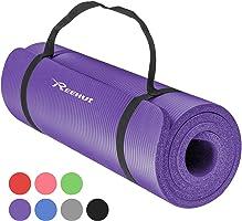 Reehut Tapis de Yoga 12 mm Haute Densité NBR, Conçu pour Le Yoga (Hatha, Nidra, Traditionnel, Pilates, Restauratif,...