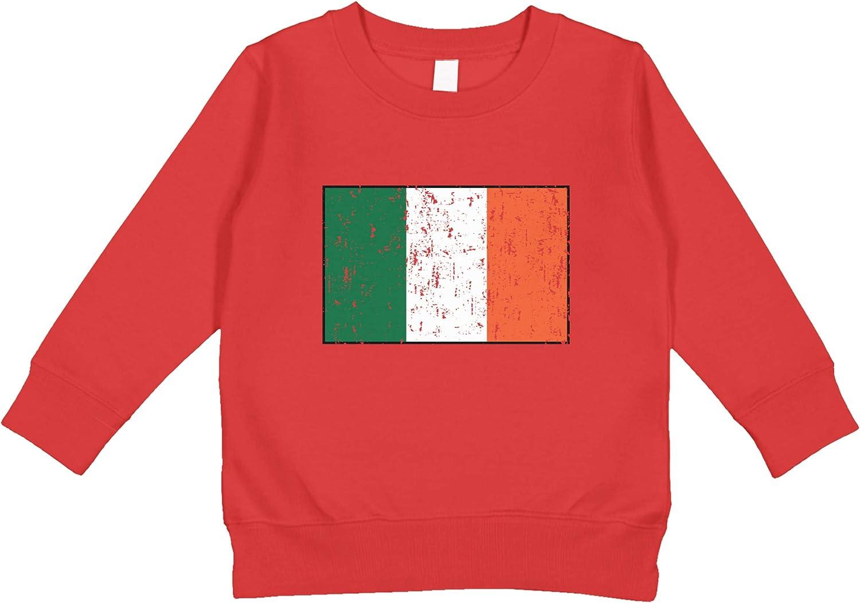 Amdesco Ireland Flag Irish Toddler Sweatshirt
