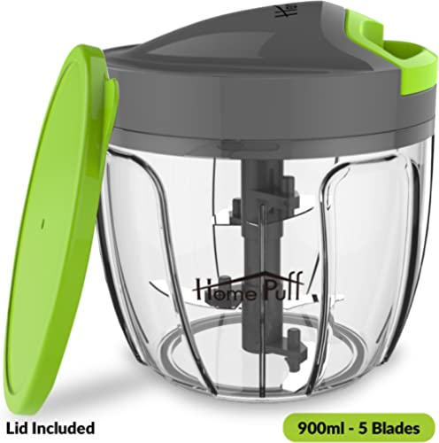 Home Puff Plastic 5 Blades Vegetable Chopper with Storage Lid, 900ml product image
