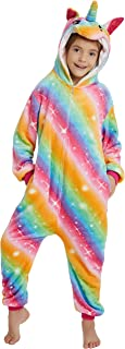 Kids Animal One-Piece Pajamas Costume Hooded Cosplay Onesies Fleece Sleepwear for Girls and Boys