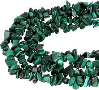 wanjin Malachite Stone Crystal Chips Beads 5~8mm 34 Inches per Strand for Jewelery Making