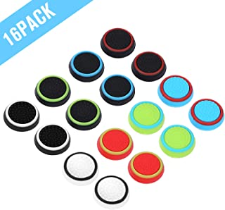 Obeka Compatible with 8 Pairs Thumb Grips Silicone Analog Stick Covers Thumbstick Controller Joystick Cap PS4 PS3 PS2 Xbox...