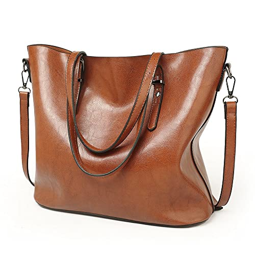 3962528d89bf Large Leather Shopping Tote Bag  Amazon.co.uk