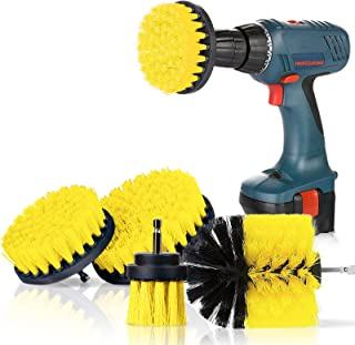 4 pieces of Drill Scrub Brushes Kit Power Scrubber brush set for bathroom Drill Scrubber brush set for cleaning cordless e...